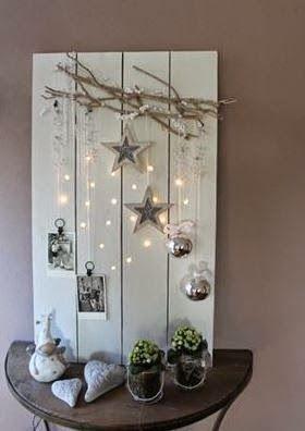 9 cosas que se pueden hacer con un palet para navidad for Adornos de navidad para hacer en casa
