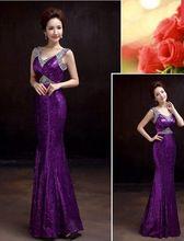 2016 de mariée formelle robe d'été mince queue de poisson rouge conception…