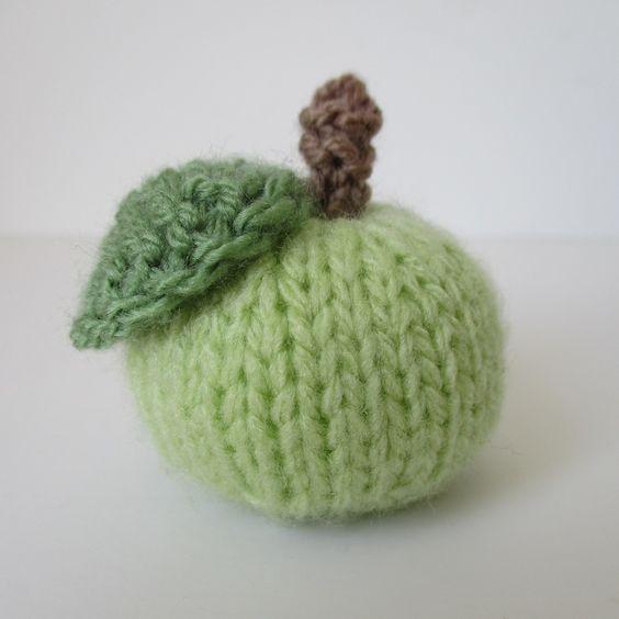 Knitted Apple Pattern : Little Apple knitting pattern, FREE, by Amanda Berry Free Pattern Pintere...
