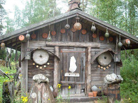 Hannu Hoskonen's house  Folk Artist  Silinjärvi
