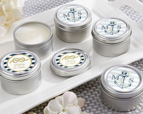 Personalized Travel Candle - these Nautical Wedding Collection