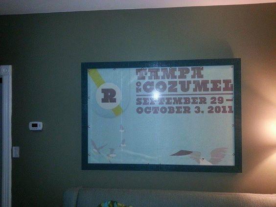Michael Gavin framed a Rombello banner! #rombello #sxmliveloud #cruise #musicfestival