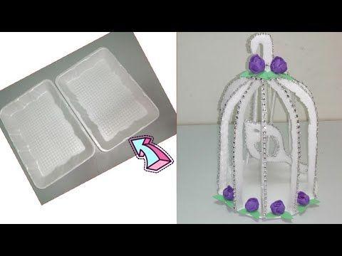 إوعى ترمى اطباق الفلين عملت قفص العصافير التحفة دة من الاطباق Diy Birds Cage Youtube White Out Tape White Out Supplies