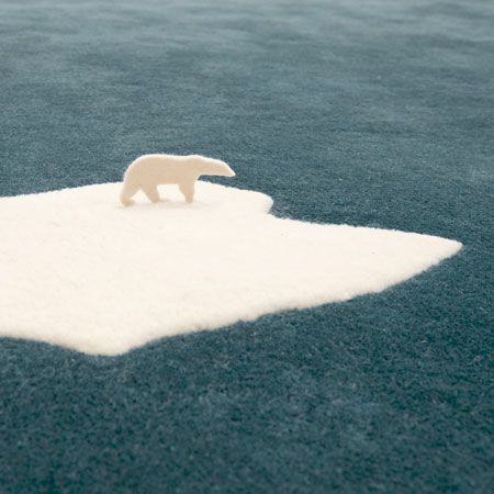 This is great and messed up all at the same time - Global Warming Rug by NEL for Nanimarquina