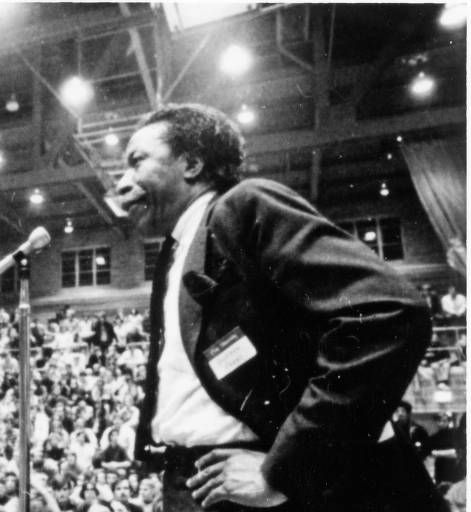 Grover Center student rally, May 1970 :: Ohio University Archives.