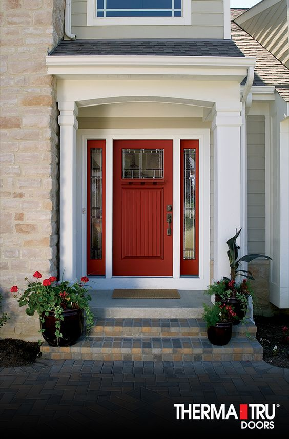 Decorative Glass Fiberglass Entry Doors And Doors On