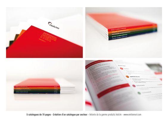 Holcim Bétons France // Corporate branding by Emilie Möri, via Behance