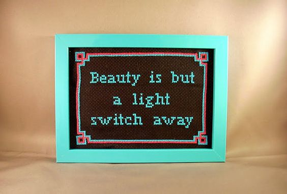 Beauty is but a light switch away by katiekutthroat on Etsy, $40.00