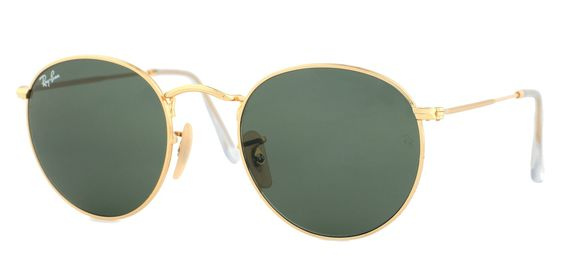 9bd9a907c7a Ray-Ban Gold Round Metal Sunglasses RB 3447 001 50mm + SD Glasses + Cleaning