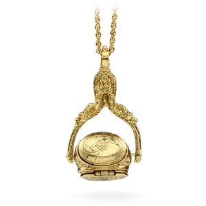 victorian rotating triple locket
