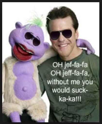 Peanut and Jeff Dunham