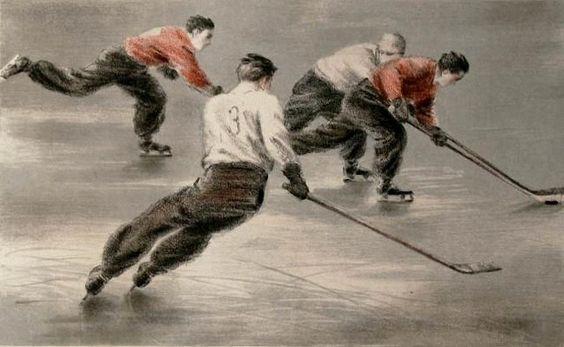 Когоут Николай Николаевич (1891-1959) Хоккей. 1950-е гг.