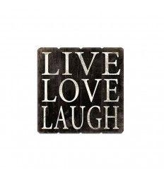 Cartel de tablones de madera Live Love Laugh ref HF7247436