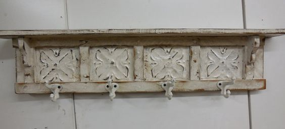 French Country Coat Rack Shabby Chic Coat Rack by LynxCreekDesigns