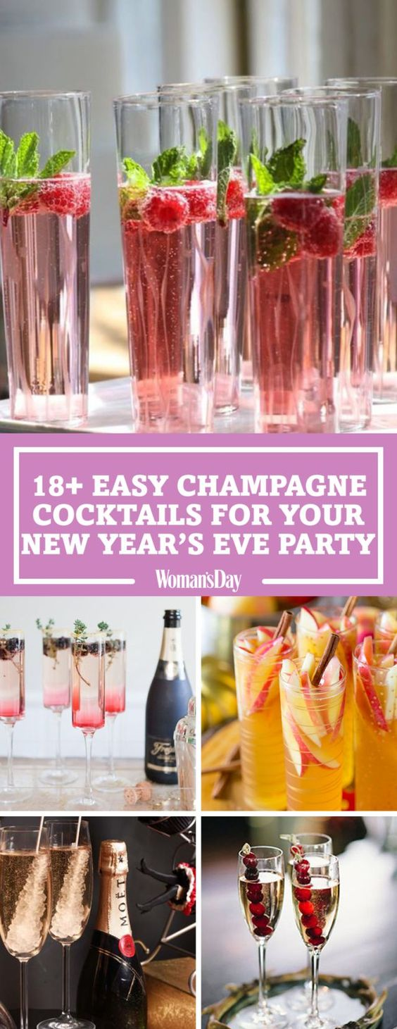 20 Easy Champagne Mix-Ins Your New Year's Eve Party Needs