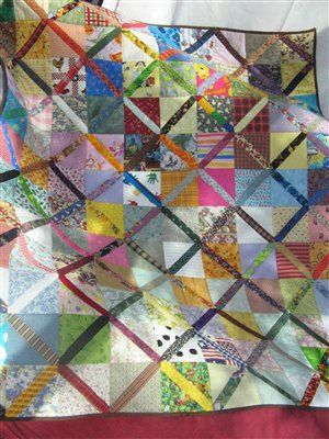 Scrappy Quilt - love this.