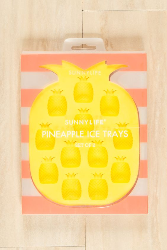 Sunny Life Pineapple Ice Trays Yellow