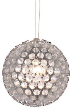 Zuo Modern Proxima Ceiling Lamp in Aluminum - Modern - Chandeliers - Beyond Stores