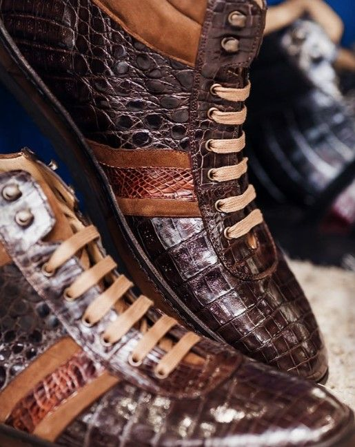 Mens alligator sneakers for sale