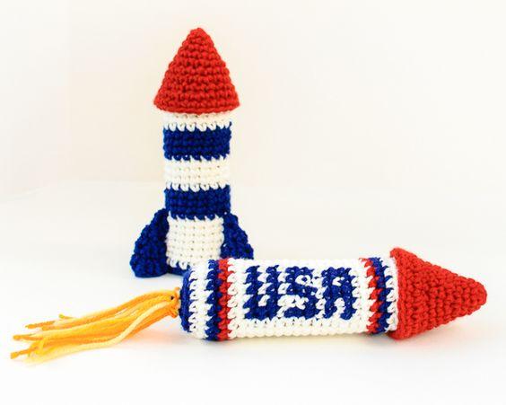 Rocket Ship Crochet Patterns.  amigurumi