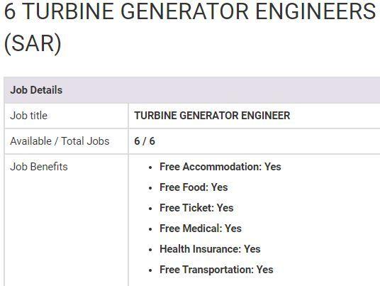 Turbine Generator Engineer Jobs In Saudi Arabia 2019 Job