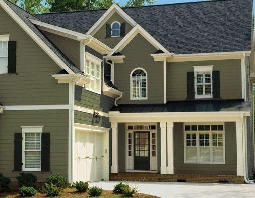 painting house exteriorhouse exterior  Pratt  Lambert Olive Shadow 1517  Exterior