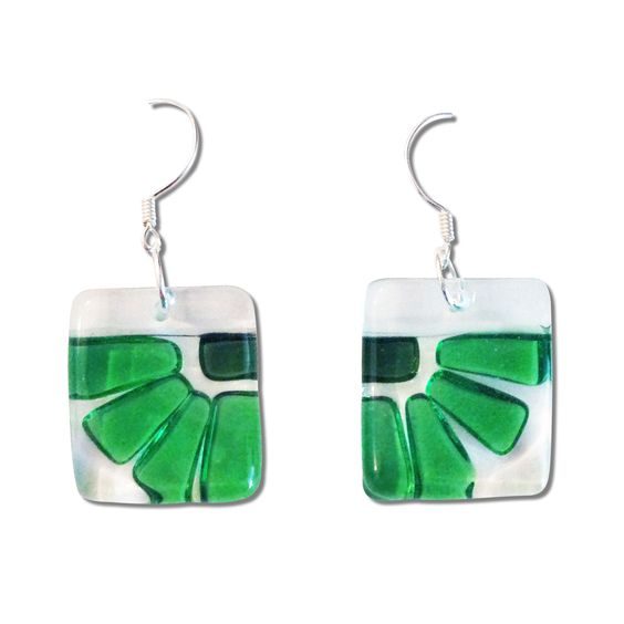 LAMA Glass Earrings - Aqua