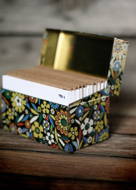 Sarah Fritzler: recipe box journal calendar