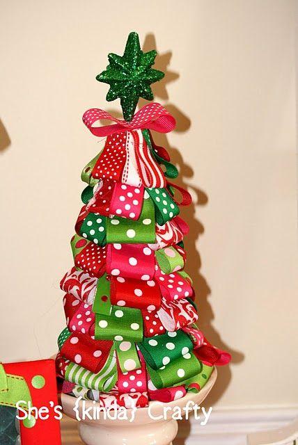 Cute ribbon tree tutorial