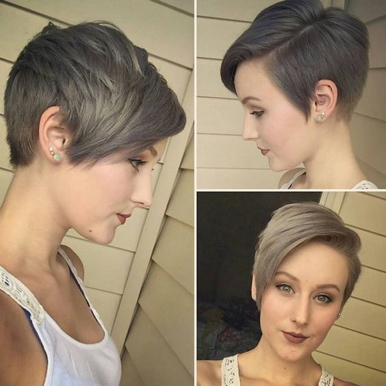 25 Cute Balayage Styles for Short Hair. Chic Short Hairstyle with Side Bangs