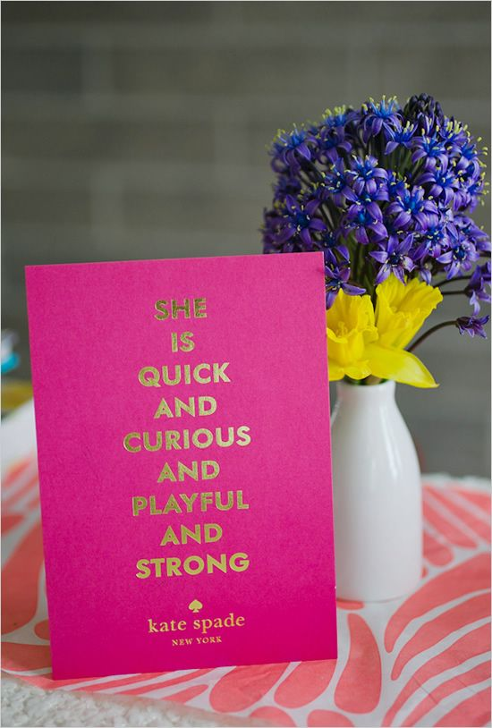 hot pink and gold stationery