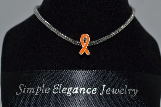 European Orange Ribbon Awareness Bead by SimpleEleganceCole, $3.00