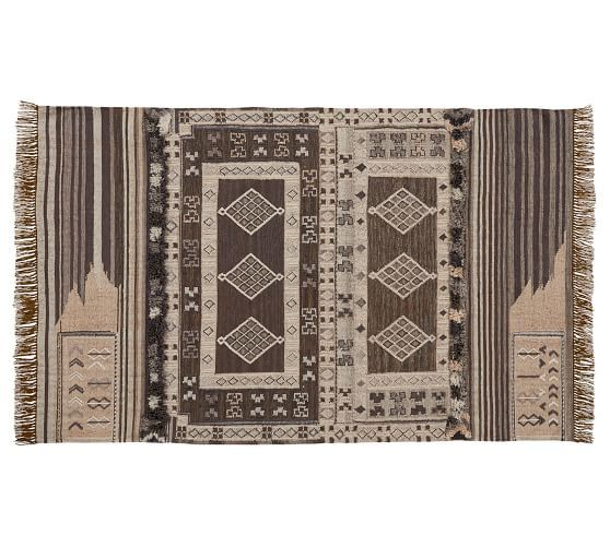 Isaac Eco Friendly Kilim Indoor Outdoor Rug Neutral Rugs Red