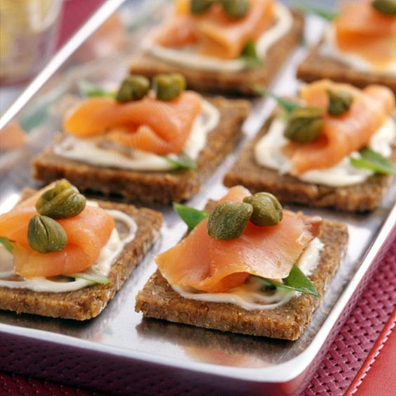 Smoked salmon canapes recipe smoked salmon classic for Simple canape appetizer