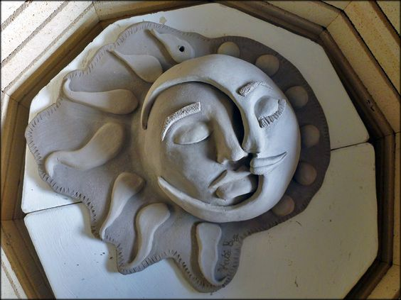 Sun, Moon face and Middle on Pinterest