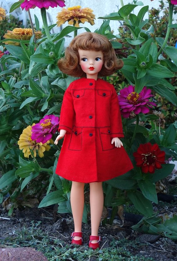 Vintage Tammy doll in the garden - Photo by Debby Emerson