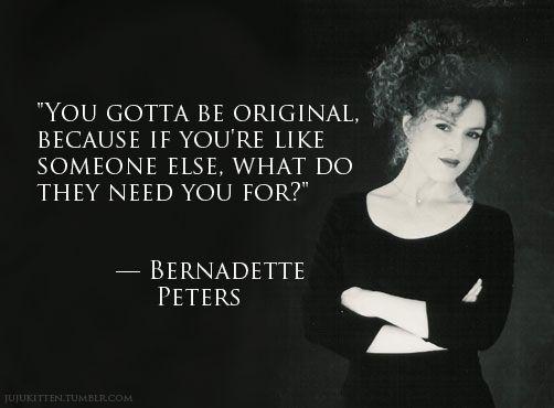 Bernadette Peters - shared by http://sassycurves.com/