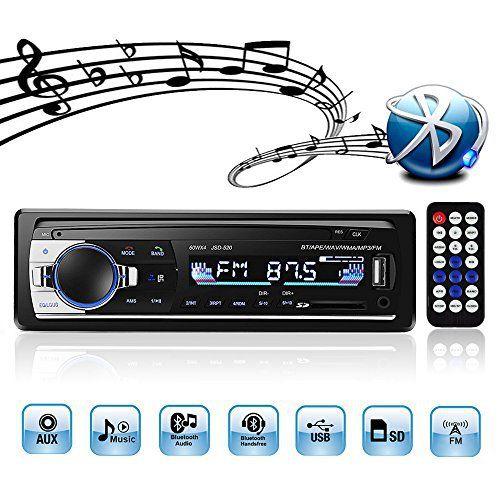 4X60W Auto Audio Stereo FM Radio MP3 Player USB//SD//AUX Freisprechfunktion mit Fernbedienung Autoradio mit Bluetooth