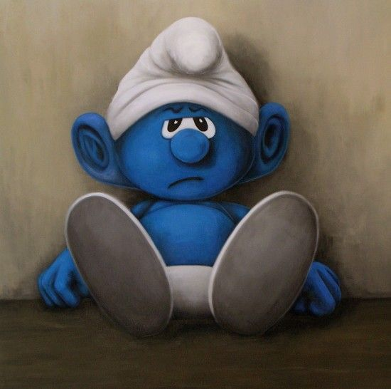 Erica Scheper - Smurf is a little down - cool painting