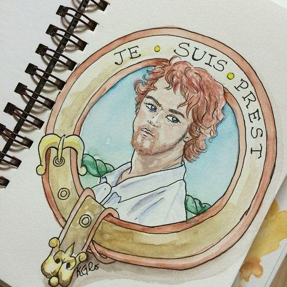 Je Suis Prest. My attempt at Jamie Fraser. #art #artflow #igart #artlove #watercolor #outlander