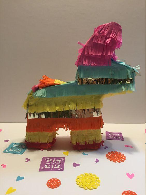 10 tall Donkey piñatas 5 pieces for a fiesta party por VivaLaFiesta
