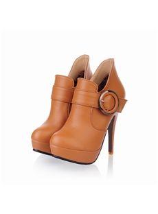 High Quality PU Stiletto Heel Women Boots: tidestore.com