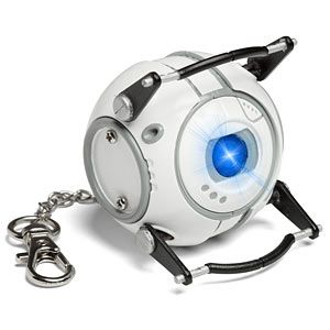 """""""He might be dim, but this flashlight is not"""" $19.99 replica of Wheatley. Great for escaping darkened testing facilities."""
