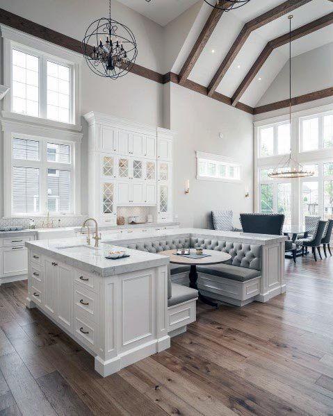 Le Migliori 60 Migliori Idee Per La Cucina Bianca Pulizia Degli Interni Tatuaggio Home House Interior House Rooms