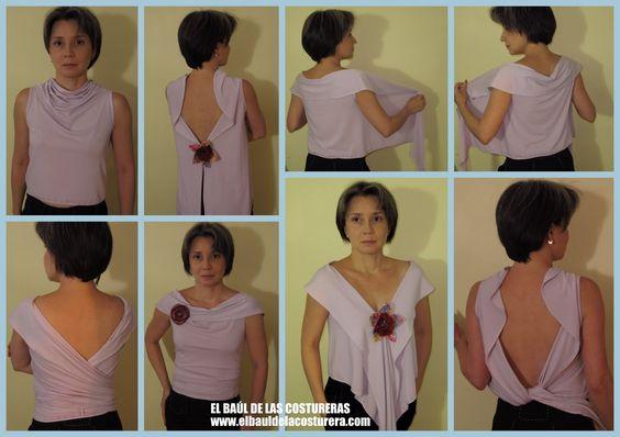 tutoriel cardicool - EL BAÚL DE LAS COSTURERAS: Cómo hacer una blusa con un triángulo de tela