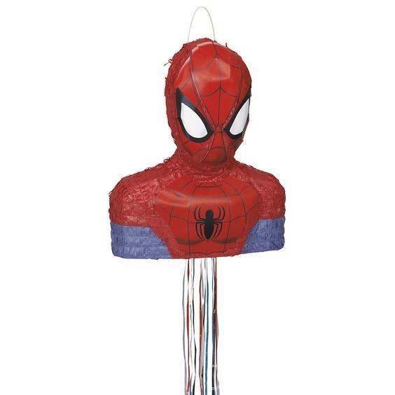 Pinata à tirer Spiderman anniversaire enfant