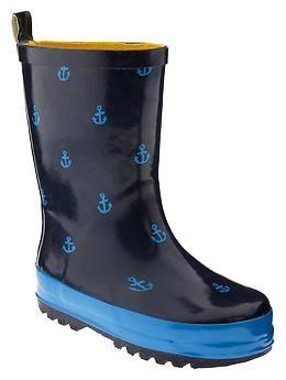 Anchor rain boots for children | Gap $39.95 | Beach   Nautical ...