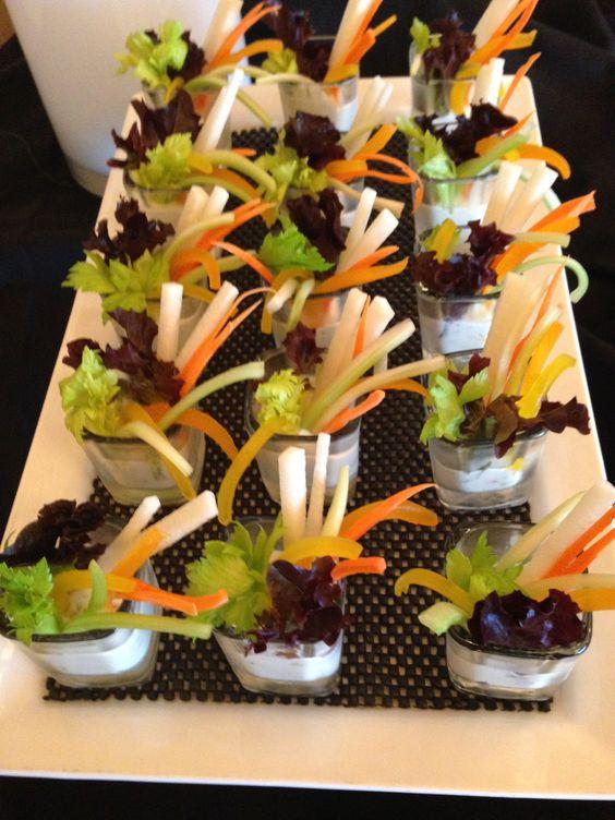 Baby salad shots