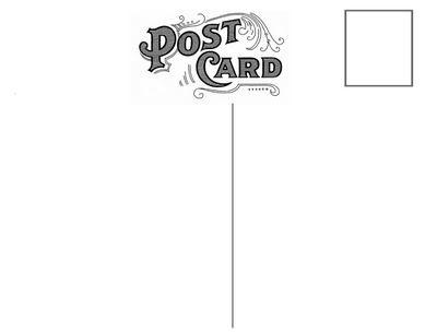 Free Vintage Postcard Back Peony RSVP Templates – Postcard Format Template