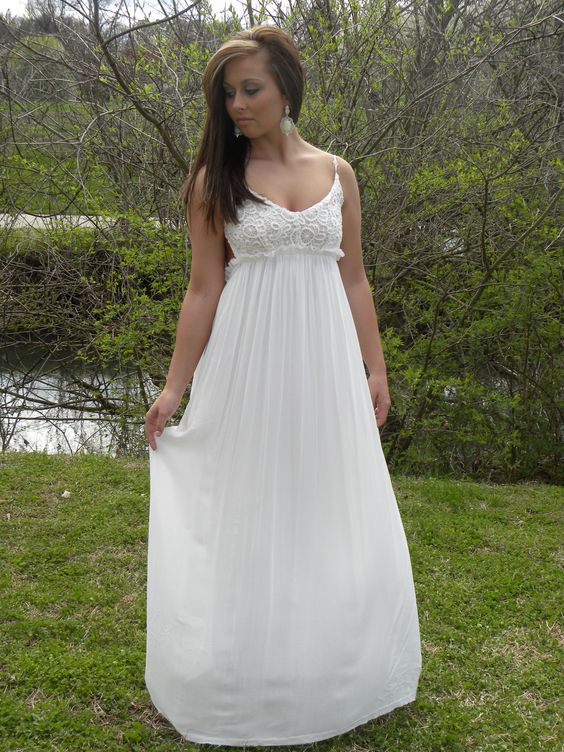 Just Call Me Angel Maxi.  Perfect for weddings or the Beach.  In Pink or White.